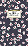 2020-2022 Pocket Planner: Adorable 3 Year Inspirational Monthly Organizer, Calendar, Schedule Agenda & Diary with Notes, Phone Book & Password Log - Ditsy White Daisies Floral Pattern