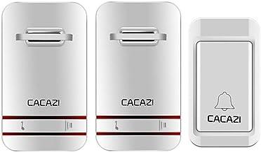ZHQHYQHHX Draadloze deurbel, waterdicht, intelligente deurbel, EU/US-stekker, draadloze belring, deurbel, afstandsbedienin...