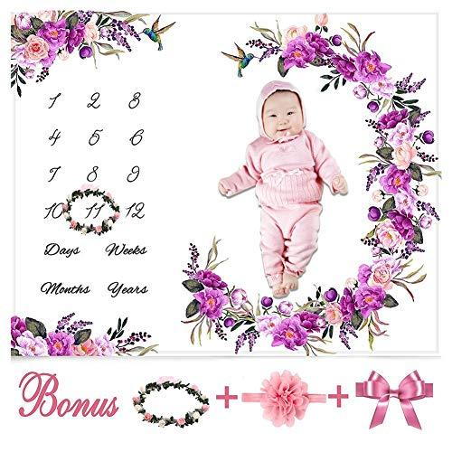 SNIIA Pasgeboren fotografie wrap, DIY pasgeborenen fotografie rekwisieten deken, baby rekwisieten bedrukt katoen maandelijkse mijlpaal wrap swaddle dekens, lange golven wrap - 100x150cm