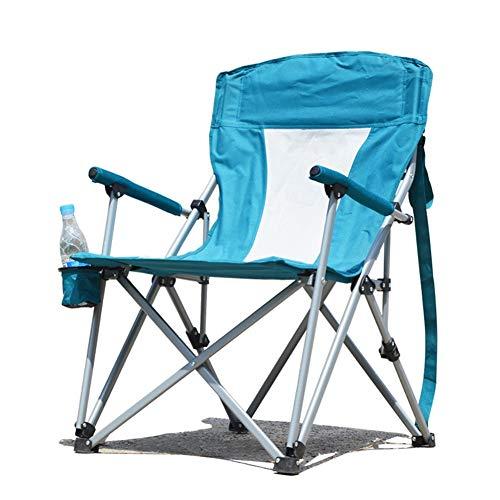 qidongshimaohuacegongqiyouxiangongsi angelausrüstung Tragbare große Sessel lässige Leinwand Liegestühle mit dem Auto Camping-Sessel Außen-Stuhl Klapp (Color : Green Blue)