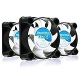 AABCOOLING Super Silent Fan 4 - Un Silencioso y Muy Efectivo Ventilador 40mm para Impresora 3D, Cooler, Fan 4cm, Base Ventilador, 4500 RPM - 3 Piezas 17,9 dB