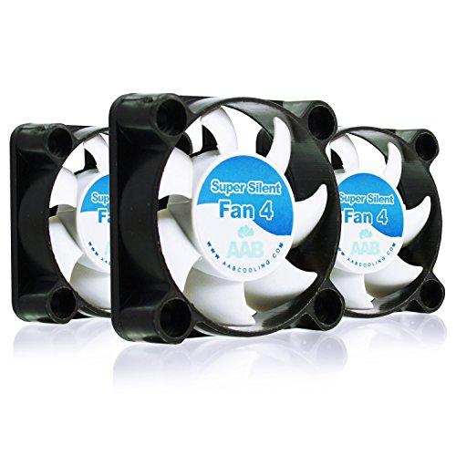AABCOOLING Super Silent Fan 4 - Silent and Efficient 40mm Fan with 4 Anti-vibration Pads - Value Pack 3 Pieces, 12V, Quiet Fan, 3D Printer Fan, Silent Case Fan 17,9 dB