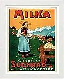 L Lumartos Vintage Poster Milka Modern Home Decor Wall Art