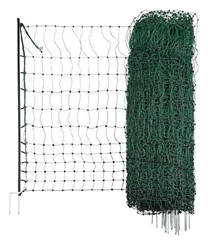 Kerbl 292220 Geflügelnetz, leitend 50 m / 112 cm Doppelspitze, grün - 4