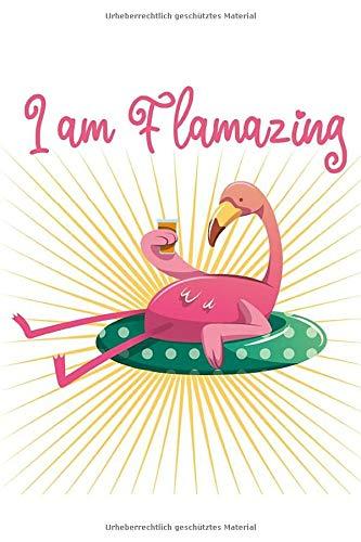 I am Flamazing: Notizbuch 4x6 Zoll Kariert 120 Seiten | Planer Tagebuch Notizheft Notizblock Journal To Do Liste | Flamingo | Geschenk Geschenkidee Weihnachten Adventskalender Geburtstag