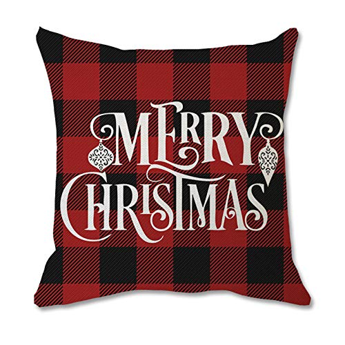 Kekison UK Christmas Theme Home Lumbar Pillow Covers Back Protective Sofa Waist Cushion Cover