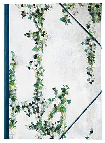 Clairefontaine 115512C - Un carton à dessin fermeture élastique Hedera 28 x 38 cm