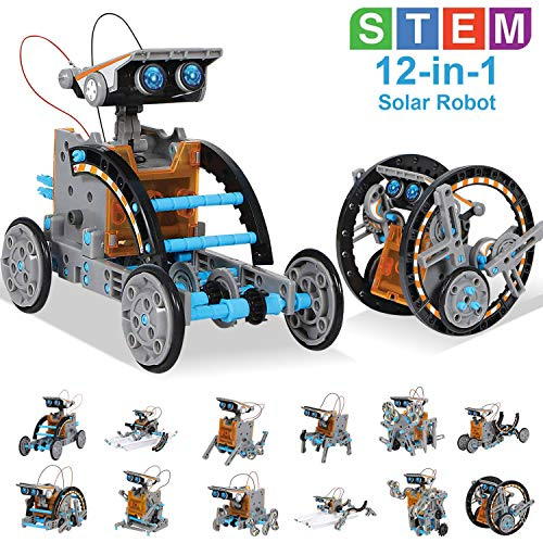 Image of the HOMOFY STEM Toys Solar Robot Kit 12-in-1 Educational Science Kits Toys|Learning Science Building Toys-Powered by Solar|STEM Toys Robot Science Kits for Kids 10-12 Year Olds Boys Girls Gifts