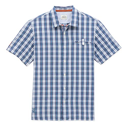 OxbOw M1CUADRO Chemise Manches Courtes Homme, Pacifico, FR (Taille Fabricant : XL)