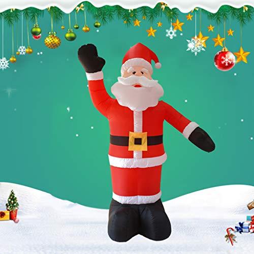 Gmsqj 8Feet / 2.4M Hohe Aufblasbarer Weihnachtsmann, Huge Glühend Weihnachtsaußendekoration Mit LED-Licht, Weihnachten Inflatables Spielzeug in Yard