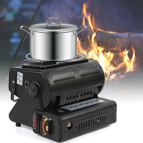 Calefactor de gas de cerámica, calefactor de gas, calefactor portátil, para camping, pescadores, cazadores, camping, 1300 W
