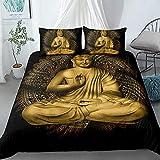 Buddha Bedding Set Bedclothes For Home 3D Printed Duvet Cover Sets 220x240cm