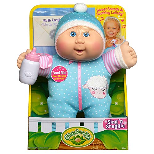 "Cabbage Patch Kids Electronic 11"" Deluxe Sing N' Snuggle - Blonde Girl/Blue Eyes"