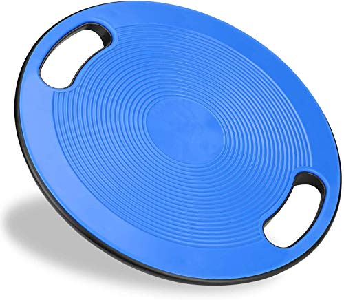 バランスボード ダイエット 体幹トレーニング用 FLYTON 滑り止め 直径40cm 運動不足 エクササイズ 持ち運びやすい コアマッスル 丸形 運動 健康 リハビリ ケガ予防 (ブルー)