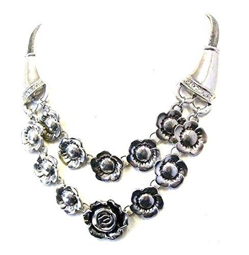 Collar con colgante de plata envejecida, estilo gtico, estilo victoriano, estilo gtico