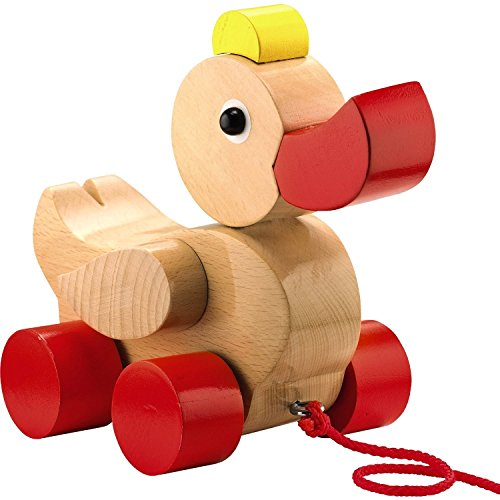 HABA Quack & Pull Classic Wooden Duck Pull Toy