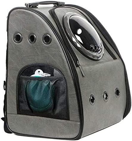 JAHUITE Upgraded Cat Backpack Bubble Space Capsule Dog Backpack Hiking Travelling Collapsible product image