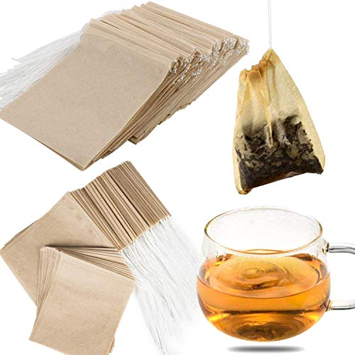 NEPAK 600 Pcs Disposable Tea Filter Bags for Loose Tea,Drawstring Empty Bag for Loose Leaf Tea,with 100% Natural Unbleached Paper(1.97 x 2.76 inch)