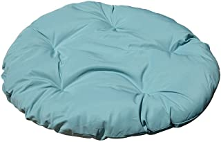 MH GLOBAL Turquoise 48 x 4 Inch Polyester Round Cushion Pillow Indoor/Outdoor Replacement Papasan Wicker Swing Chair