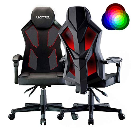 UOMAX Gaming Chair E-Sports LED Light Computer Chairs with Ergonomic Mesh...