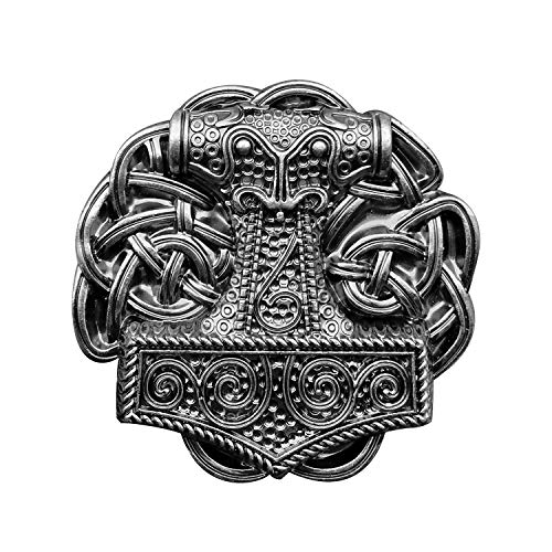 YOQUCOL Vintage Viking Style Belt Buckle Celtic Knot Cross Belts Buckle For Men Silver Tone