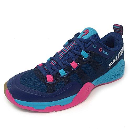Salming Damen Kobra 2 Squash Indoor Court Sportschuhe, Limoges Blue/Pink Jewel, 38
