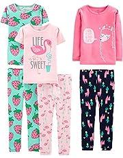 Simple Joys by Carter's 6-Piece Snug Fit Cotton Pajama Set Bebé-Niñas, Pack de 6