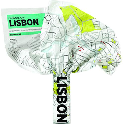 Crumpled Map - Lissabon