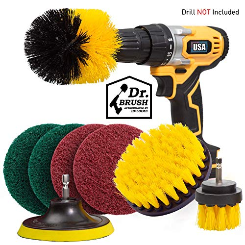 Holikme 8 Piece Drill Brush Attachment Set
