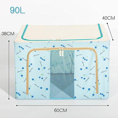 Boîte de rangement en acier de grande taille Boîte de rangement Oxford en tissu d'habillement peut être plié pour recevoir Boîte de fer Me (couleur : N ° 3)