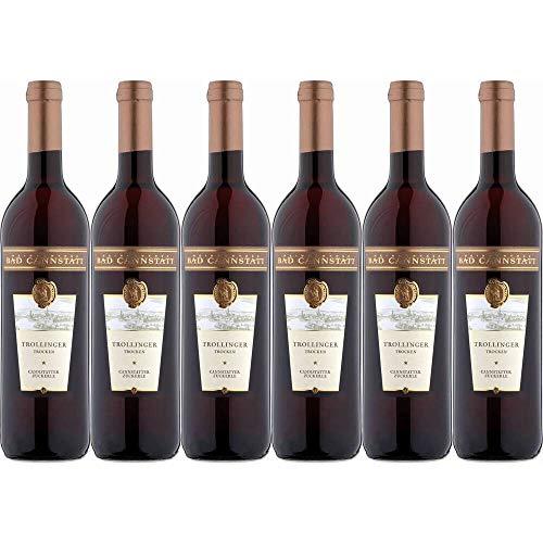 Trollinger 1* trocken Cannstatter Zuckerle Weinfactum Bad Cannstatt 12,9% 0,75l (Paket 6x0,75l)