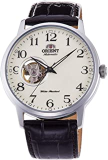 Bambino Open Heart' Japanese Automatic Stainless Steel and Leather Dress Watch