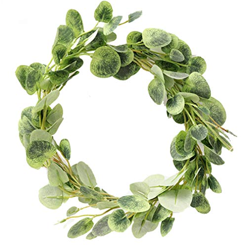 TBUY Artificial Eucalyptus Leaves Vine Simulation Leaf Garland Wreath for Garden Wedding Prom Party Decorations, 6.6 Feet, 1 Pack