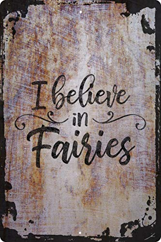 I believe in fairies cursive fairytale mythical creature magical Decorative Wall Decor Funny Gift