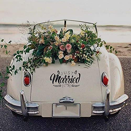 Adhesivo decorativo Just Married para coche de boda, Just Married Pegatinas de...