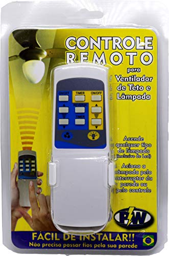 Controle Remoto Ventilador de Teto Universal PW
