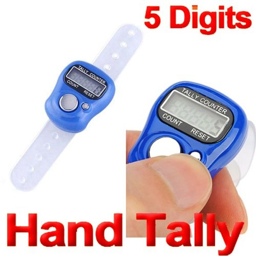Tiny Deal New Digital 5 Digit Finger Ring Tally Counter