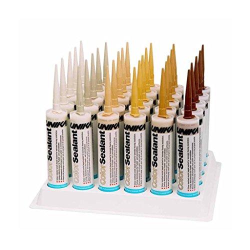 Unika ColorSealant 4206 BUCHE Acryl-Fugenmasse Spachtelmasse Kitt Lückenfüller Reparatur-Füllstoff wasserfest für Holzboden Laminat, 310 ml Kartusche, Farbauswahl aus 14 Holztönen