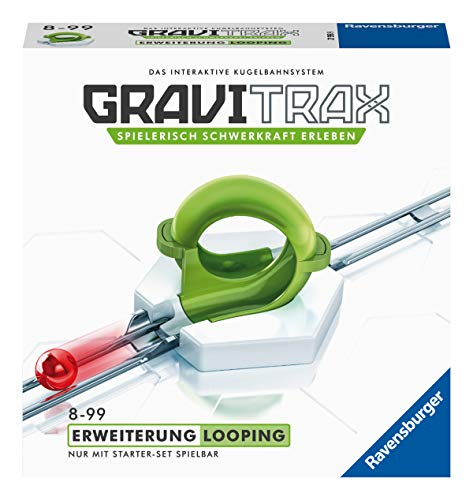 Ravensburger GraviTrax Looping-förlängning – idealiskt tillbehör för spektakulära kultbanor, byggleksaker för barn från 8 år