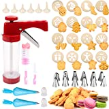 Cookie Press 41 PCS Cookie Press Gun with 16 Christmas Spritz...