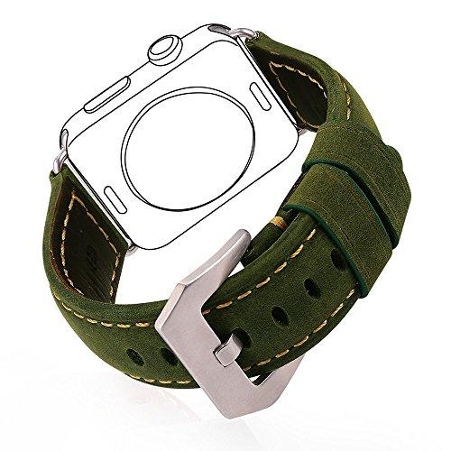 Correa Cuero 42mm Watch Series 3 / 2 / 1 Bandmax Verde