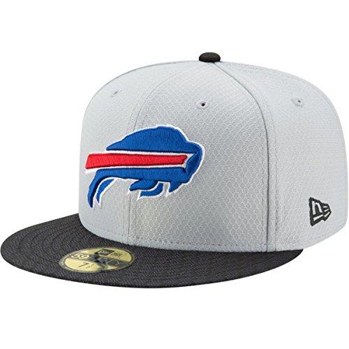 New Era NFL Buffalo Bills Men's Sideline Gray 59Fifty Fitted Cap, 7.125, Gray