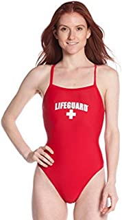 LIFEGUARD Officially Licensed Swimsuit for Women & Ladies, One Piece Lycra Swimming Suit, Elastic Comfort Straps.