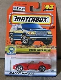 Mattel 2000 Matchbox Red Dodge Viper RT/10 #43 1:64 Scale Die Cast Show Cars