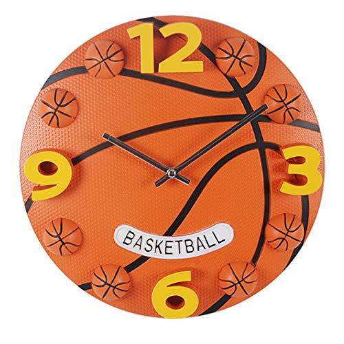 gongyu Reloj de Pared de Baloncesto, diseño Simple y Moderno, decoración para habitación de niños, Reloj Deportivo Creativo, Reloj de Pared, decoración del hogar, silencioso