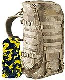 Wisport Bug Out Bag Damen & Herren   Prepper Rucksack   Überlebensrucksack für 1 Person   BOB Backpack   Go Bag   Fluchtrucksack   Cordura   Camo   Zipperfox 40L + UP Schlauchtuch; A-TACS AU
