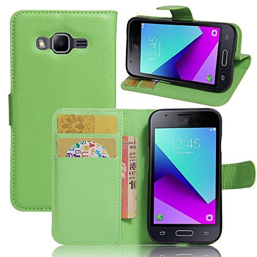 Manyip Funda Samsung Galaxy J1 Mini Prime, Caja del teléfono del Cuero,Protector de Pantalla de Slim Case Estilo Billetera con Ranuras para Tarjetas, Soporte Plegable, Cierre Magnético(JFC8-3)