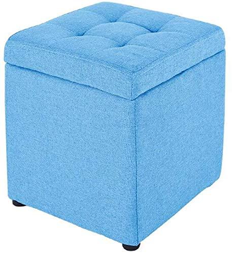 Silla de reposapiés de dibujos de juguetes de dibujos de juguetes de la caja de juguetes de la caja de un solo asiento 30 * 30 * 35 cm fuerte y duradero,Blue