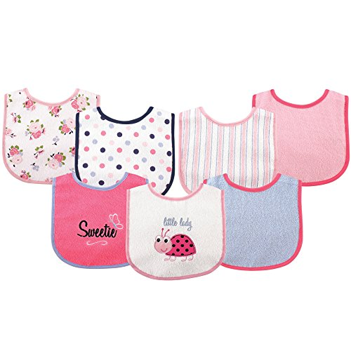 Luvable Friends 7 Piece Drooler Bibs with Waterproof Backing Now $3 (Was $9.99)
