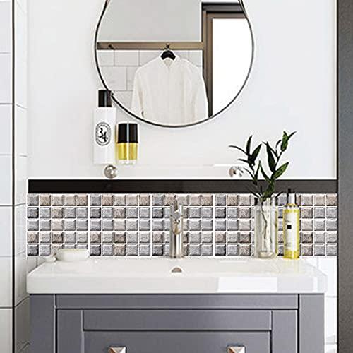 Patrón cuadrado gris,5 hojas,60*60CM,Adhesivos de pared,3D,Autoadhesivo,Espuma gruesa,Impermeable,Pared de sala de estar y Dormitorio y fondo,Decoración,Decoración,Arte,Bricolaje,Decoración del hogar